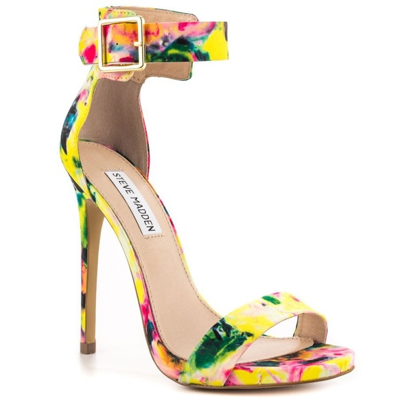 73bc54f20d3 Steve Madden Multi Color Marlenee Floral Heels. M 5ada2ea9739d48cfb83aa2d9